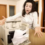 Fixing a paper jam on a Sharp copier or printer