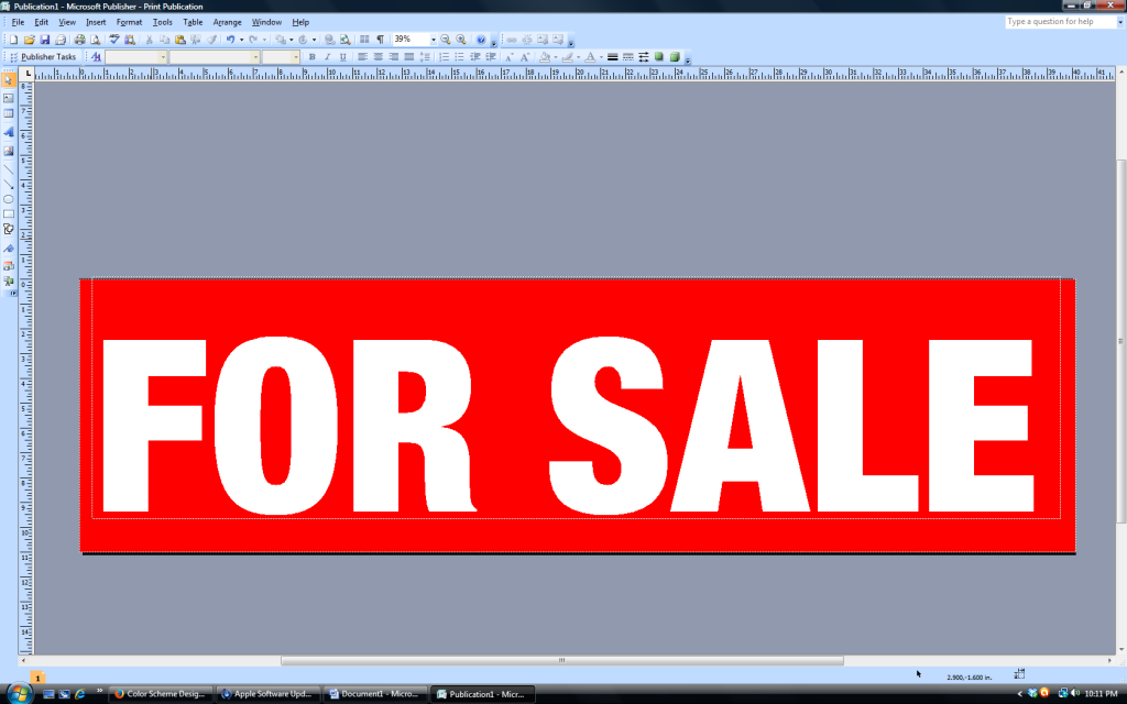 for sale sign with color reversal